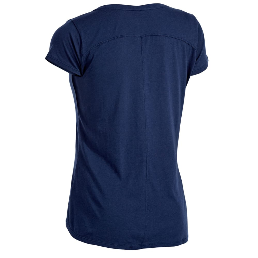 EMS Women's Serenity V-Neck Short-Sleeve Pocket Tee - BLUE NIGHTS