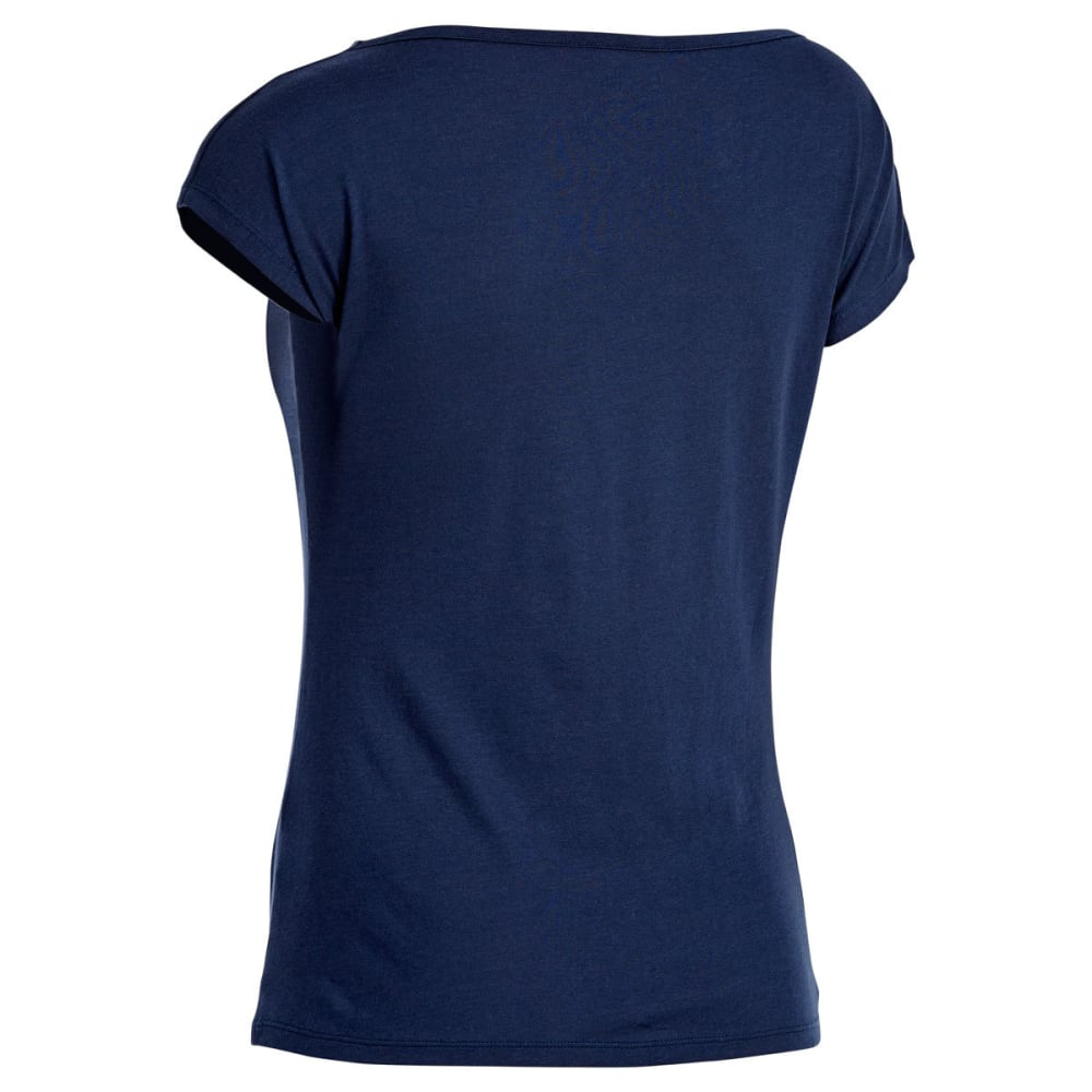 EMS Women's Serenity Cowl-Neck Cap-Sleeve Tee - BLUE NIGHTS