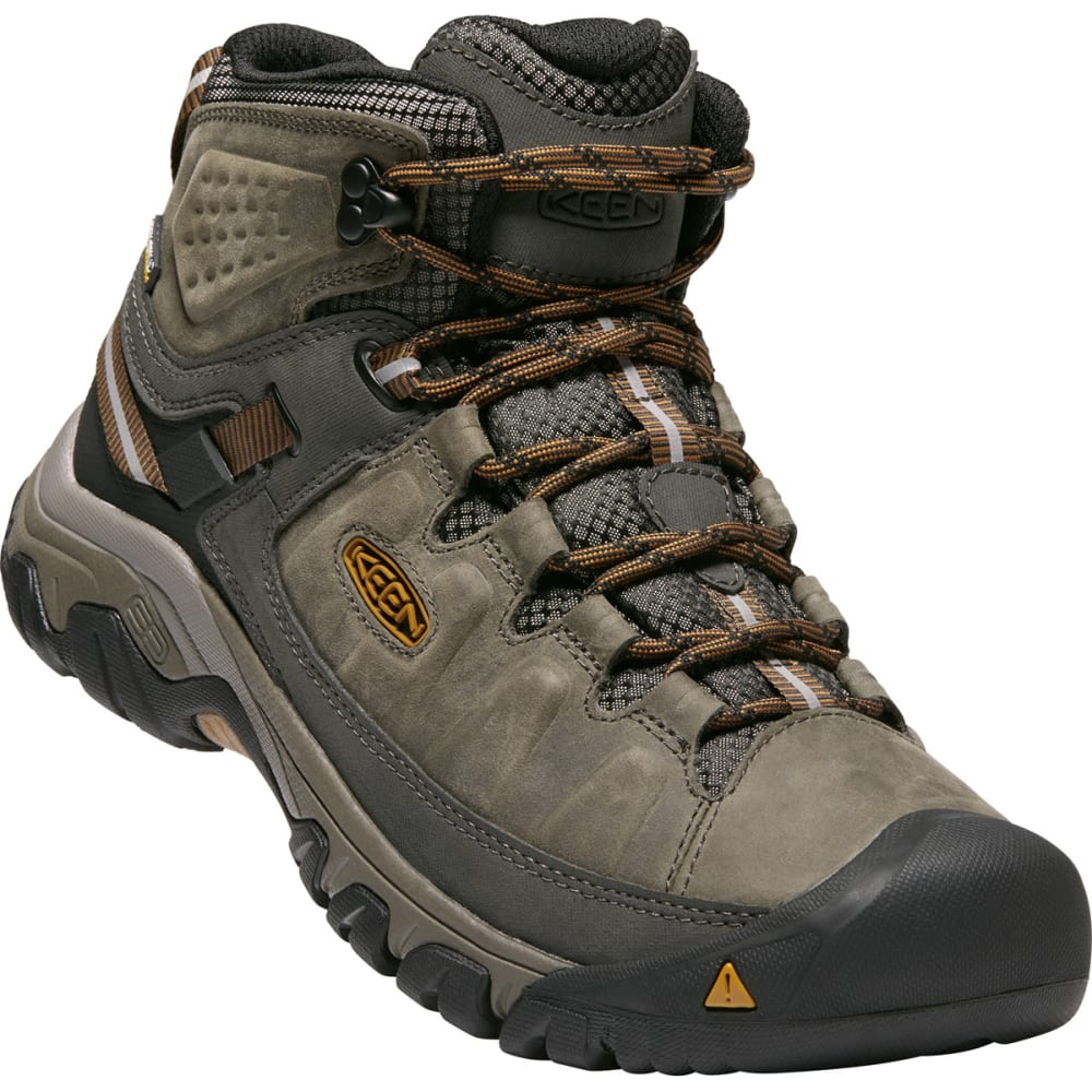 KEEN Men's Targhee III Waterproof Mid Hiking Boots - BLACK OLIVE GOLDEN B