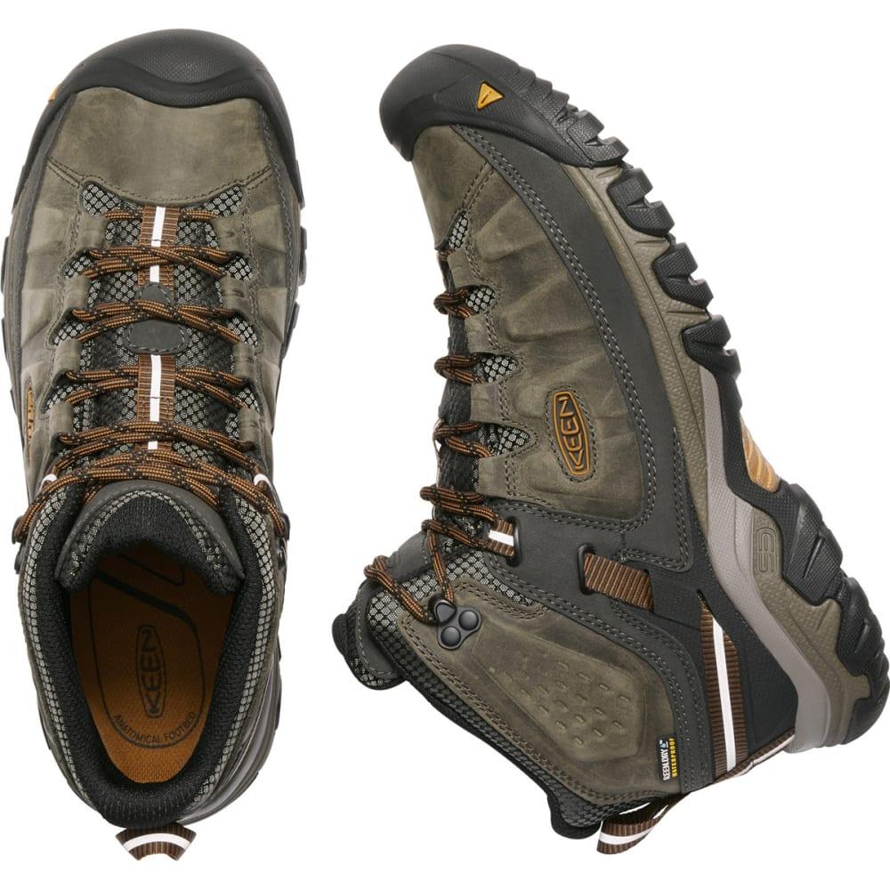 KEEN Men's Targhee III Waterproof Mid Hiking Boots - BLACK OLIVE GOLDEN B