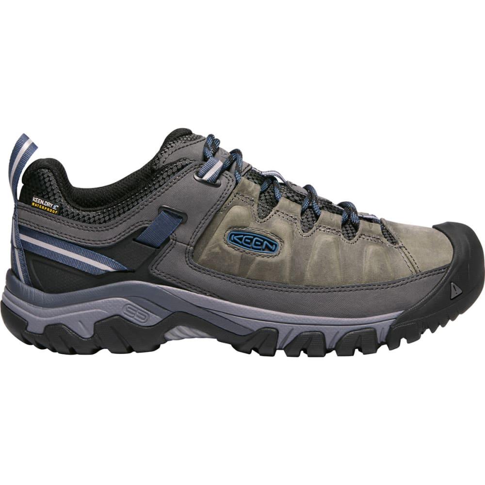 KEEN Men's Targhee III Waterproof Low Hiking Shoes - STEEL GREY CAPT BLUE