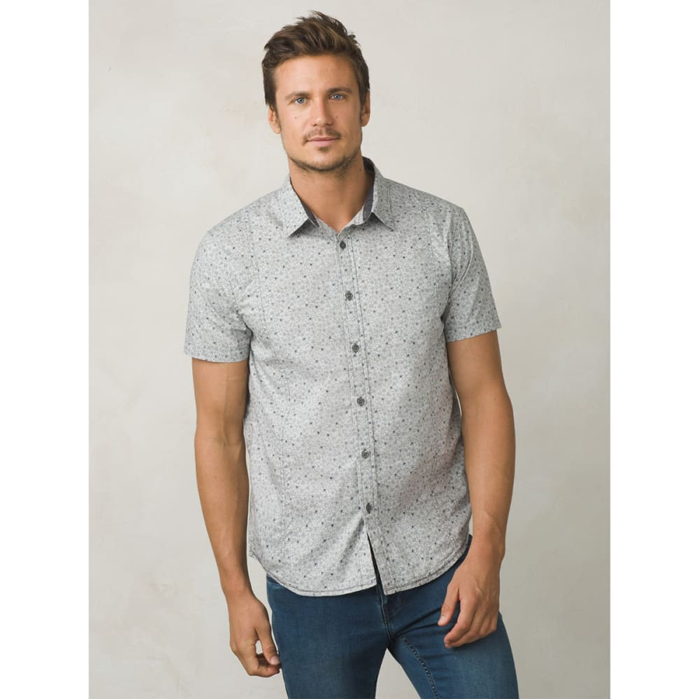 PRANA Men's Lukas Short-Sleeve Shirt - GRAVEL