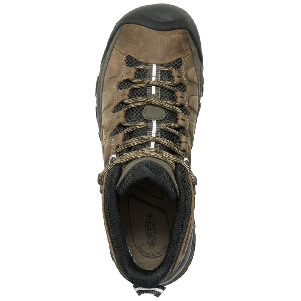 KEEN Men's Targhee III Waterproof Mid Hiking Boots - BUNGEE CORD/BLACK