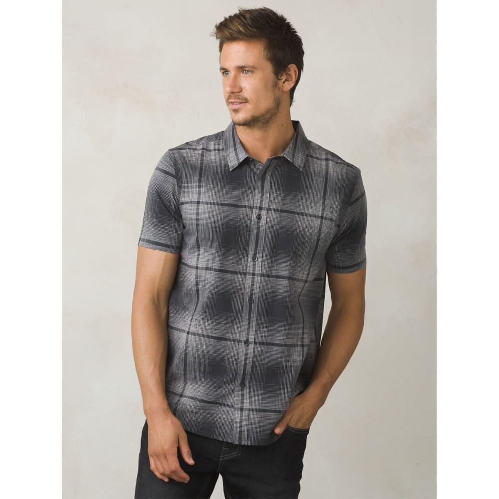 PRANA Men's Ecto Space Dye Short-Sleeve Shirt - CHARCOAL