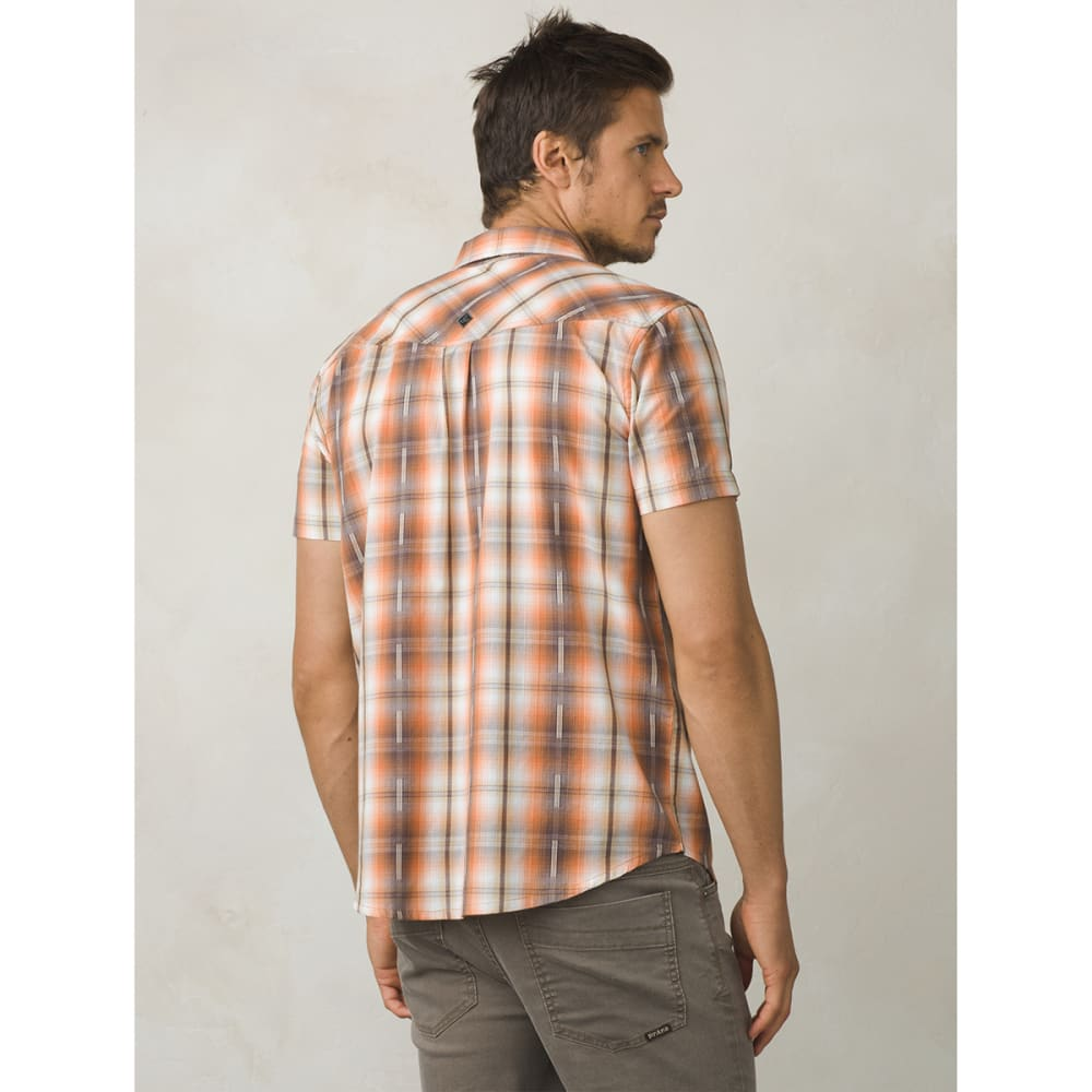 PRANA Men's Holstad Short-Sleeve Shirt - ORGANIC HAZE