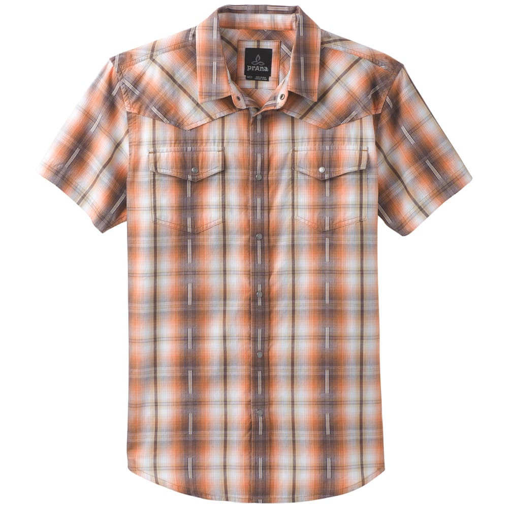 PRANA Men's Holstad Short-Sleeve Shirt - ORGANIC HAZE