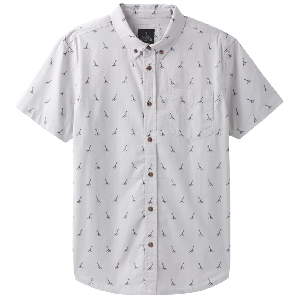 PRANA Men's Broderick Embroidery Short-Sleeve Shirt - TITANIUM GREY