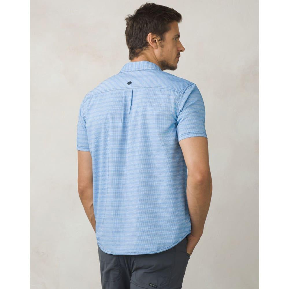 PRANA Men's Cayman Short-Sleeve Shirt - ISLAND BLUE