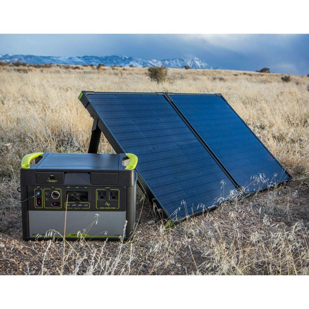 GOAL ZERO Yeti 1400 Lithium Power Station and Boulder 100 Solar Panel Kit - NO COLOR