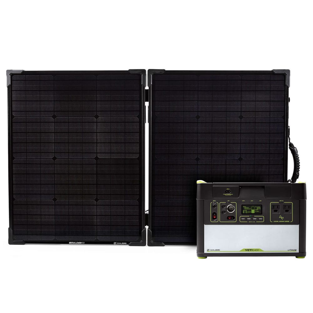 GOAL ZERO Yeti 1400 Lithium Power Station and Boulder 100 Solar Panel Kit - NO COLOR