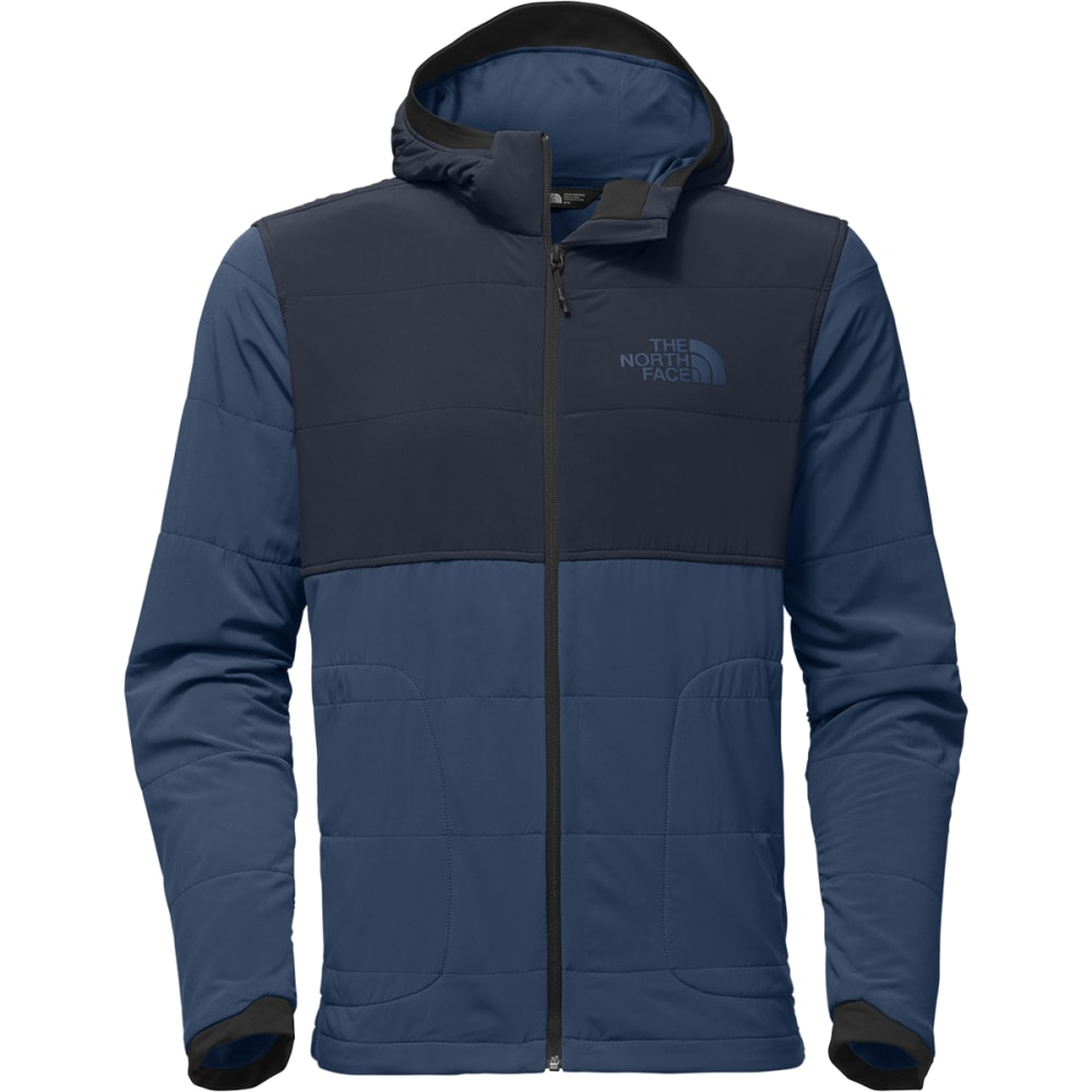 THE NORTH FACE Men's Mountain Sweatshirt Full-Zip Hoodie - LKM-SHADY BLUE/NAVY