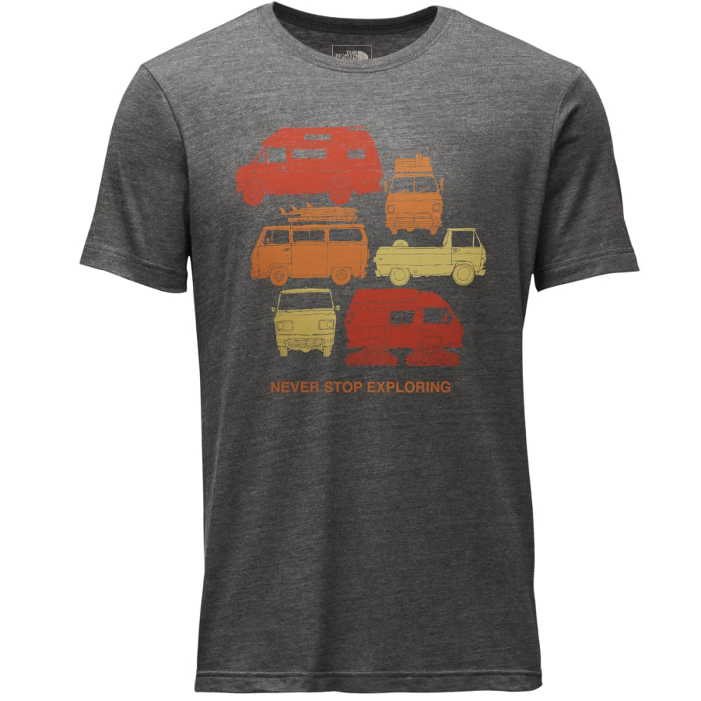 THE NORTH FACE Men's Short-Sleeve Van Tri-Blend Tee Shirt - DYZ-TNF DRK GREY HTR