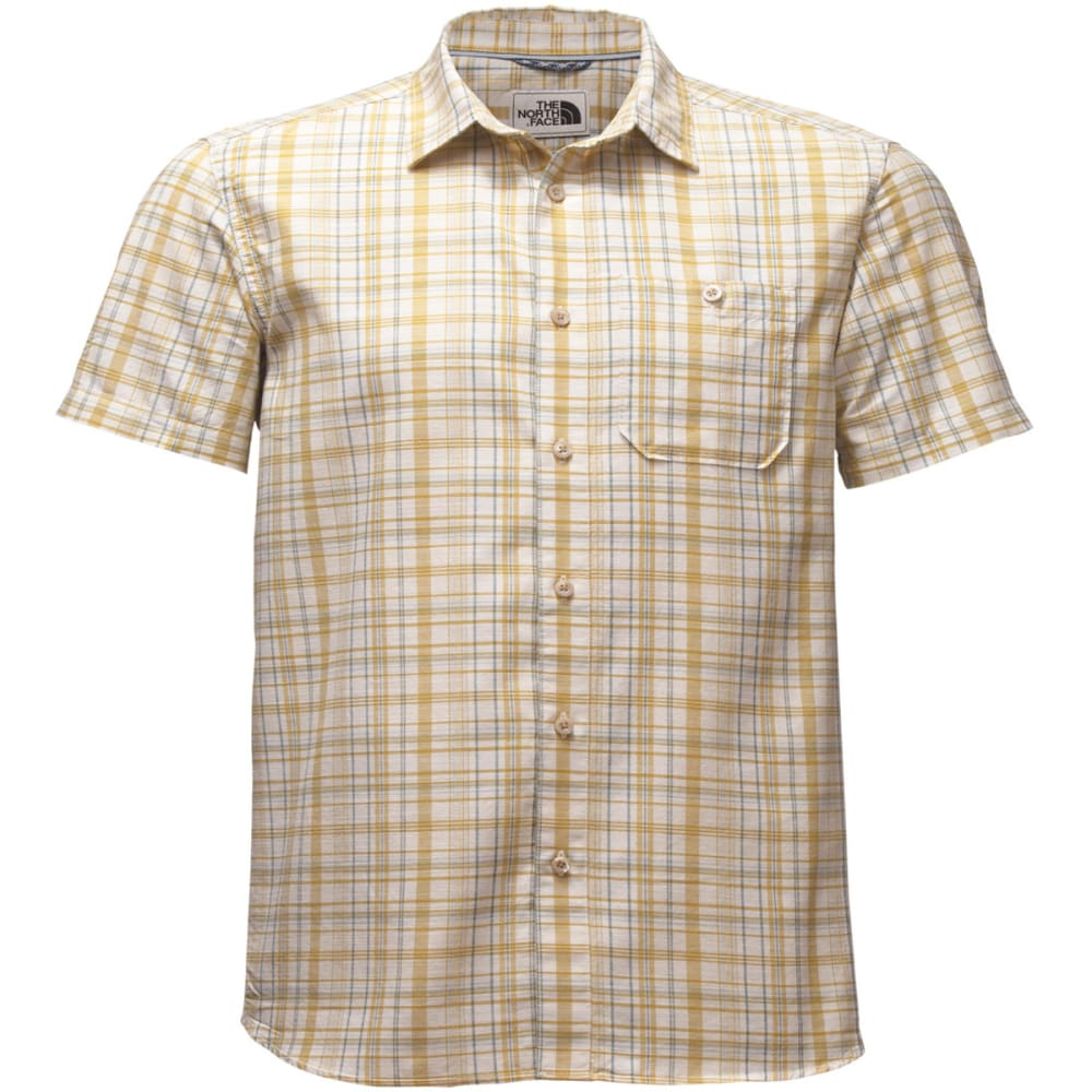 THE NORTH FACE Men's Baker Short-Sleeve Shirt - 3GP-OLIVENITE YLW PL