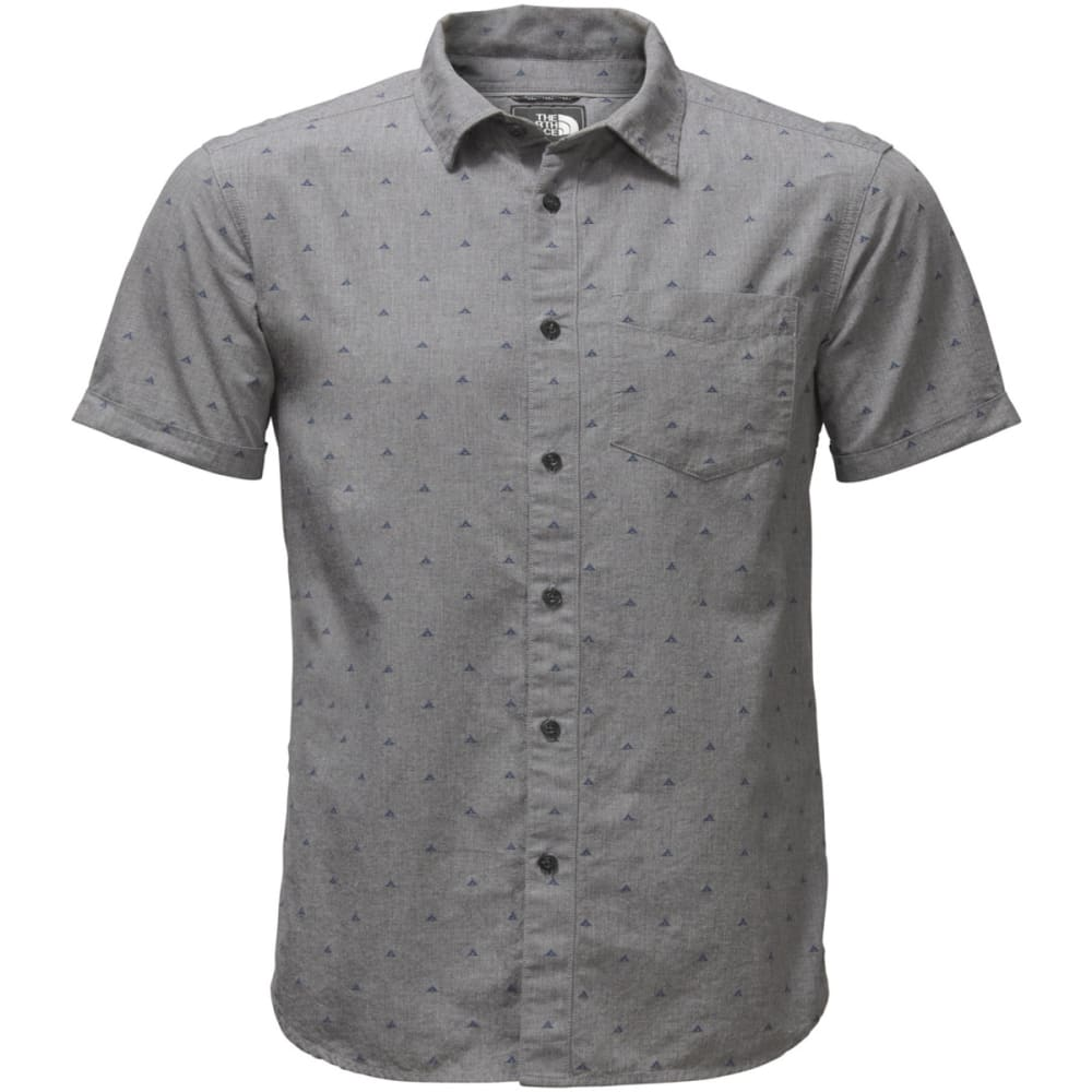 THE NORTH FACE Men's Bay Trail Jacquard Short-Sleeve Shirt - 4MU-TNF MED GREY CLI