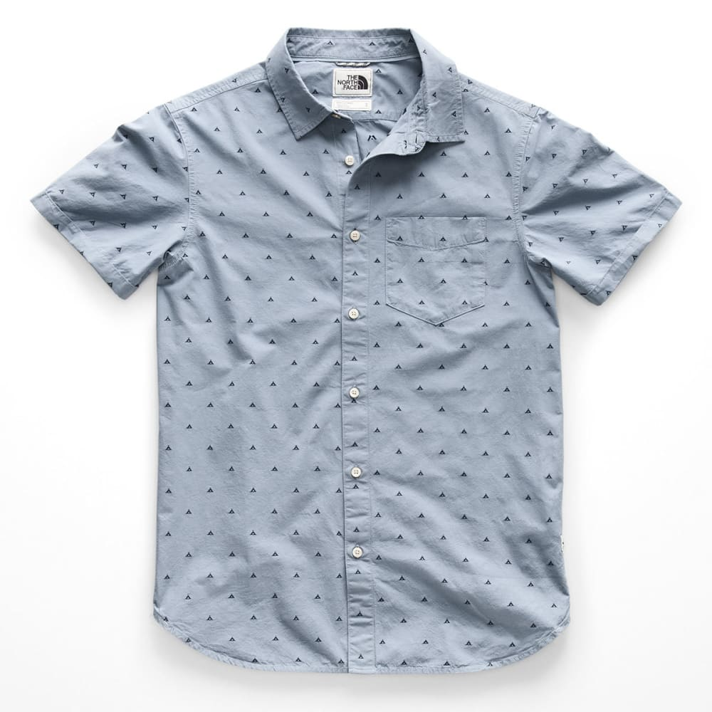 THE NORTH FACE Men's Bay Trail Jacquard Short-Sleeve Shirt - 5GR GULL BLUE TENT