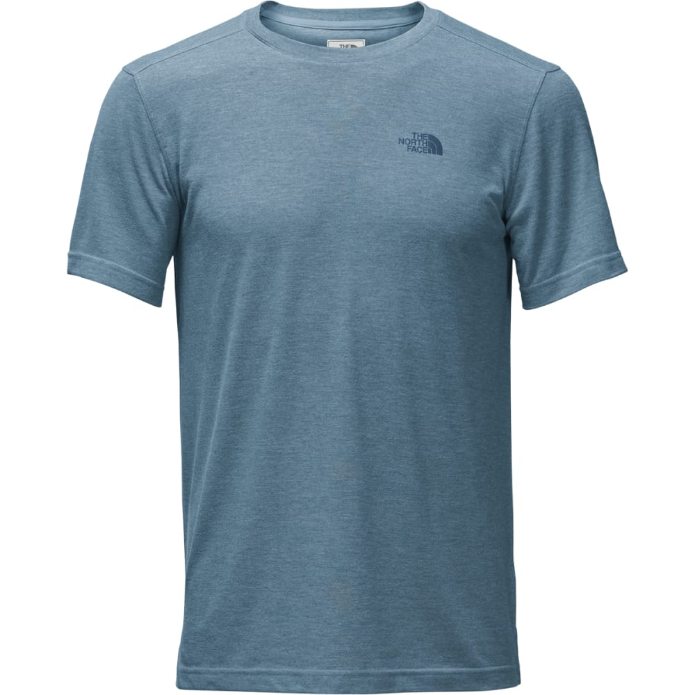 THE NORTH FACE Men's Crag Crew Short-Sleeve Tee - QBM-DUSTY BLUE HTR