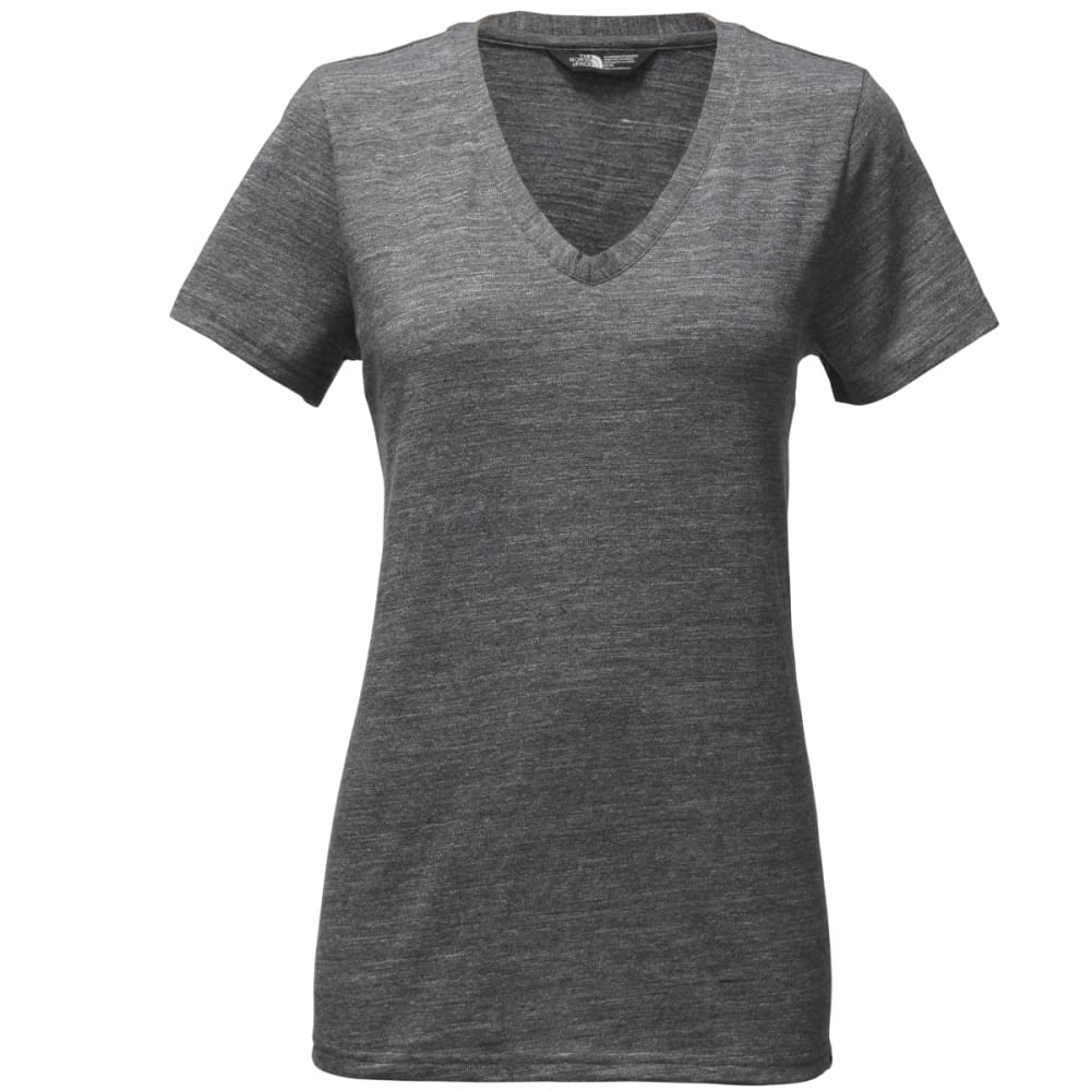 THE NORTH FACE Women's Short-Sleeve Sand Scape V-Neck Tee - DYZ-TNF DK GRY HTR