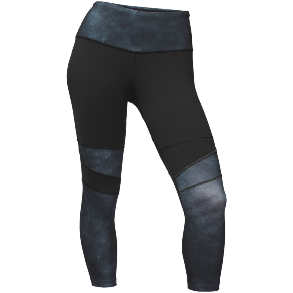 THE NORTH FACE Women's Motivation High-Rise Printed Crop - 3UR-TNF BLK/PRINT
