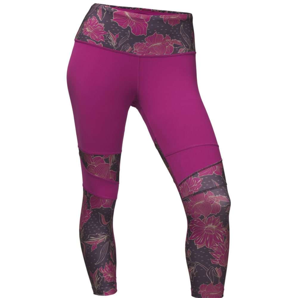 THE NORTH FACE Women's Motivation High-Rise Printed Crop - 4VC-WILD ASTER/GALAX
