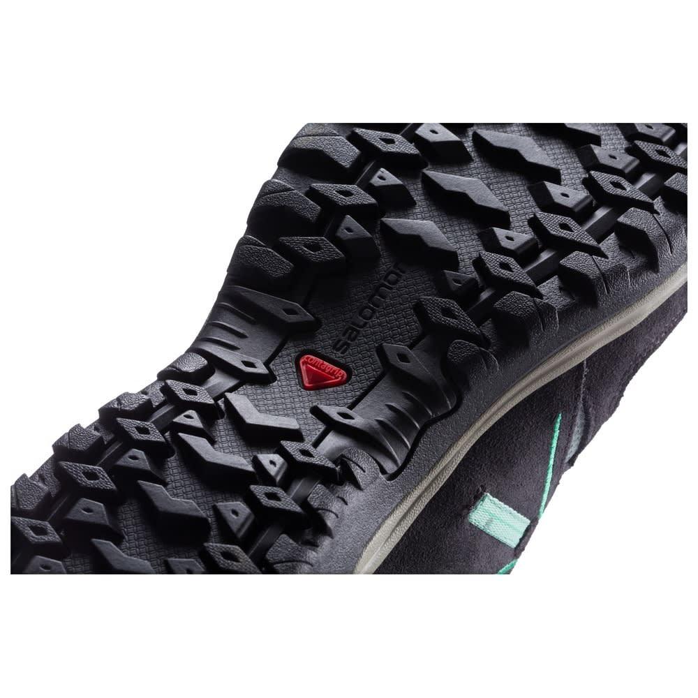 SALOMON Women's Ellipse 2 CS Waterproof Hiking Shoes, Titanium/Asphalt/Green - TITANIUM/GRN