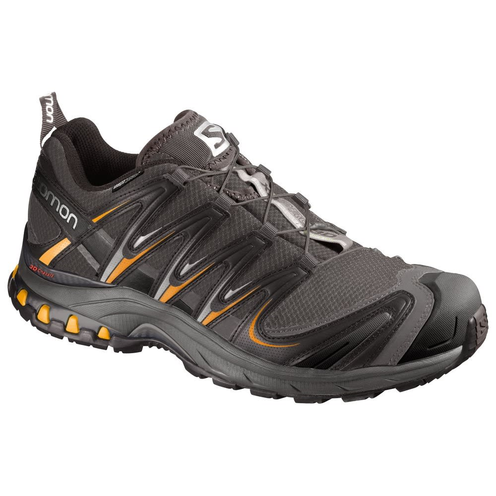 SALOMON Men's XA Pro 3D CS Waterproof Trail Running Shoes, Autobahn/Yellow - BLACK/YELLOW
