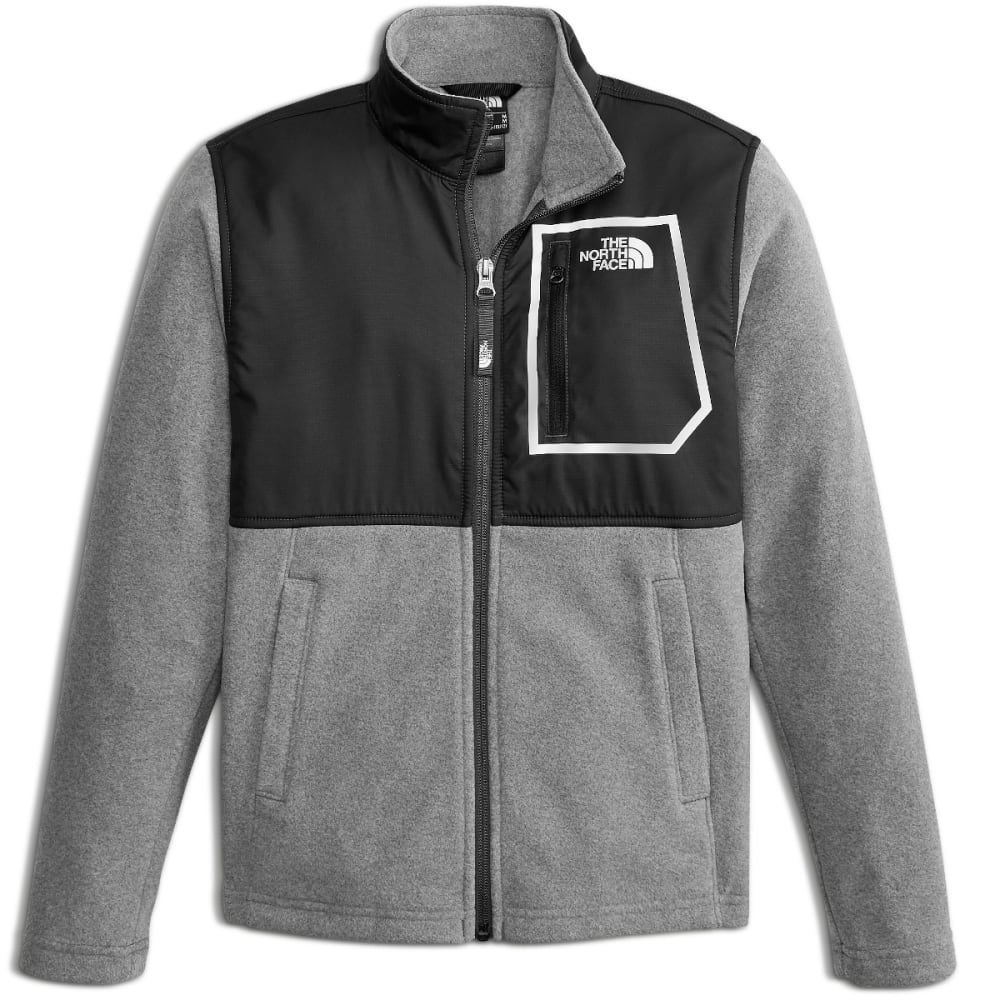 THE NORTH FACE Boys' Glacier Track Jacket - GAN-TNF BLK/MED GRY