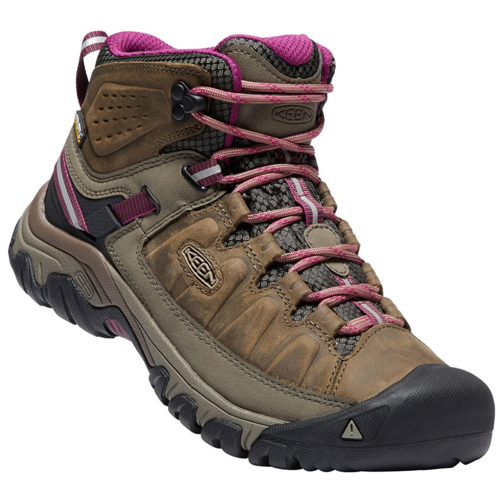 KEEN Women's Targhee III Waterproof Mid Hiking Boots - WEISS/BOYSENBERRY