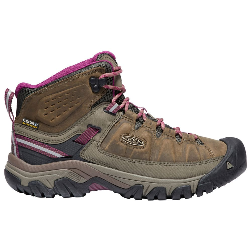 KEEN Women's Targhee III Waterproof Mid Hiking Boots - WEISS/BOYSENBERRY