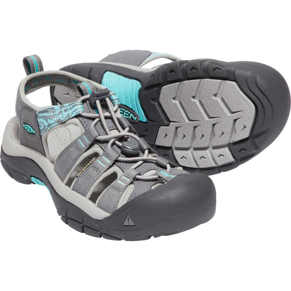 KEEN Women's Newport Hydro Sandals - STEEL GREY/TURQ