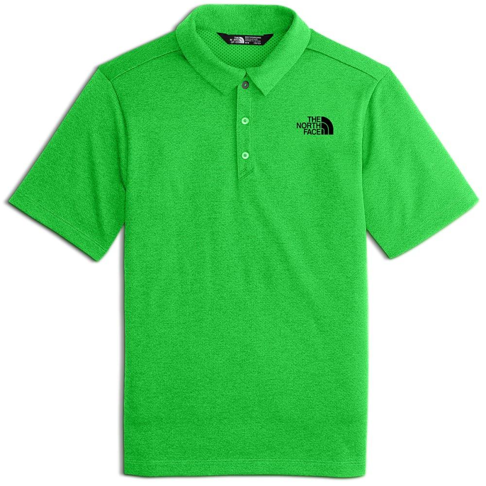 THE NORTH FACE Big Boys' Short-Sleeve Polo Shirt - 1LM-CLASSIC GRN HTR