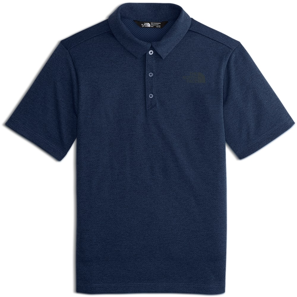 THE NORTH FACE Big Boys' Short-Sleeve Polo Shirt - A9R-COSMIC BLUE HTR