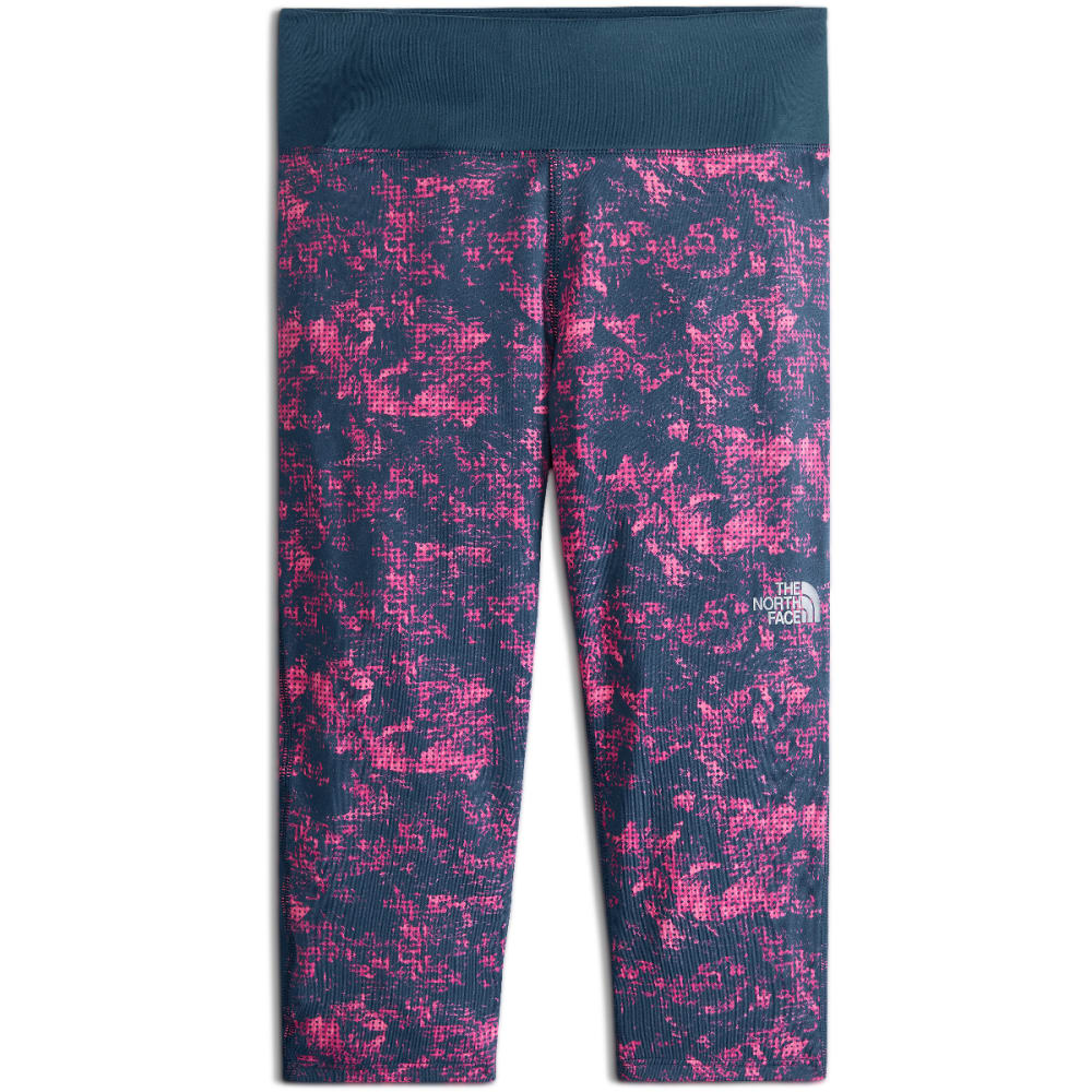 THE NORTH FACE Girls' Pulse Capri Running Pants - 1QG-GEM PNK PRNT