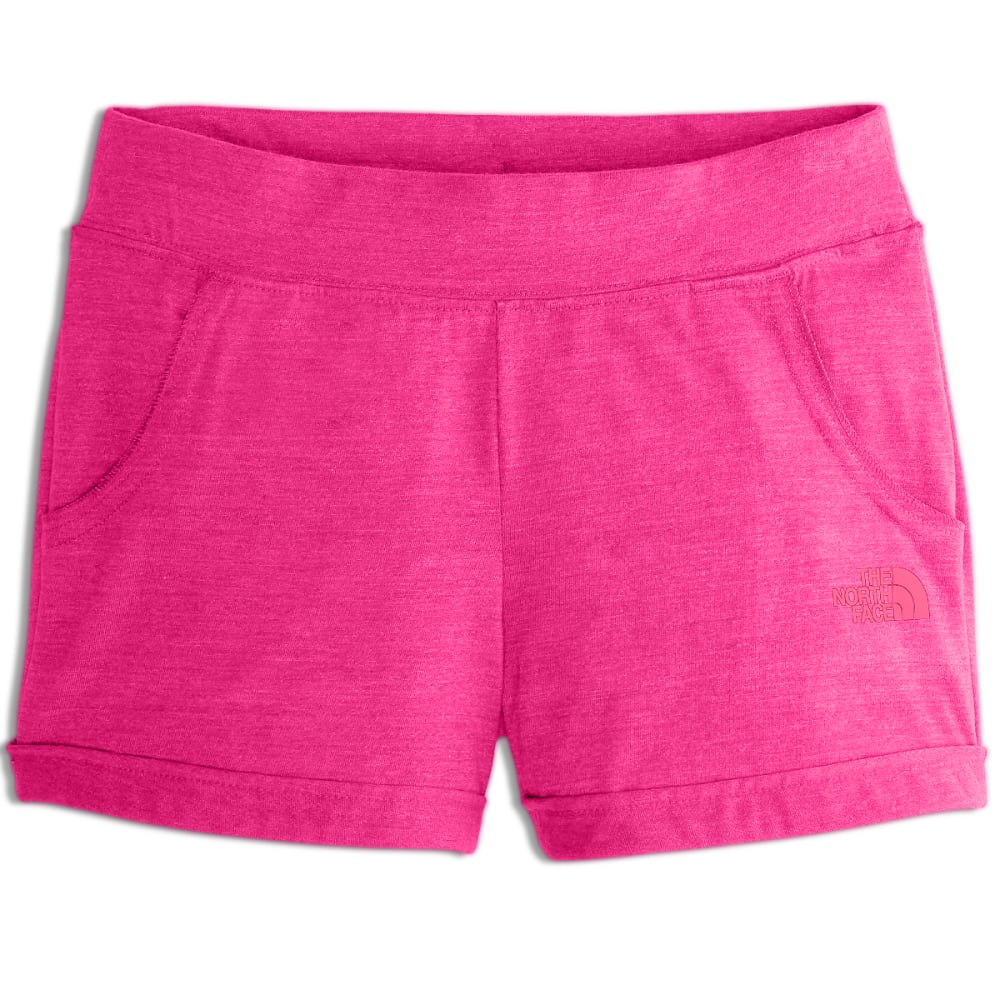 THE NORTH FACE Girls' Tri-Blend Shorts - BA0-PETTICOAT PNK HT
