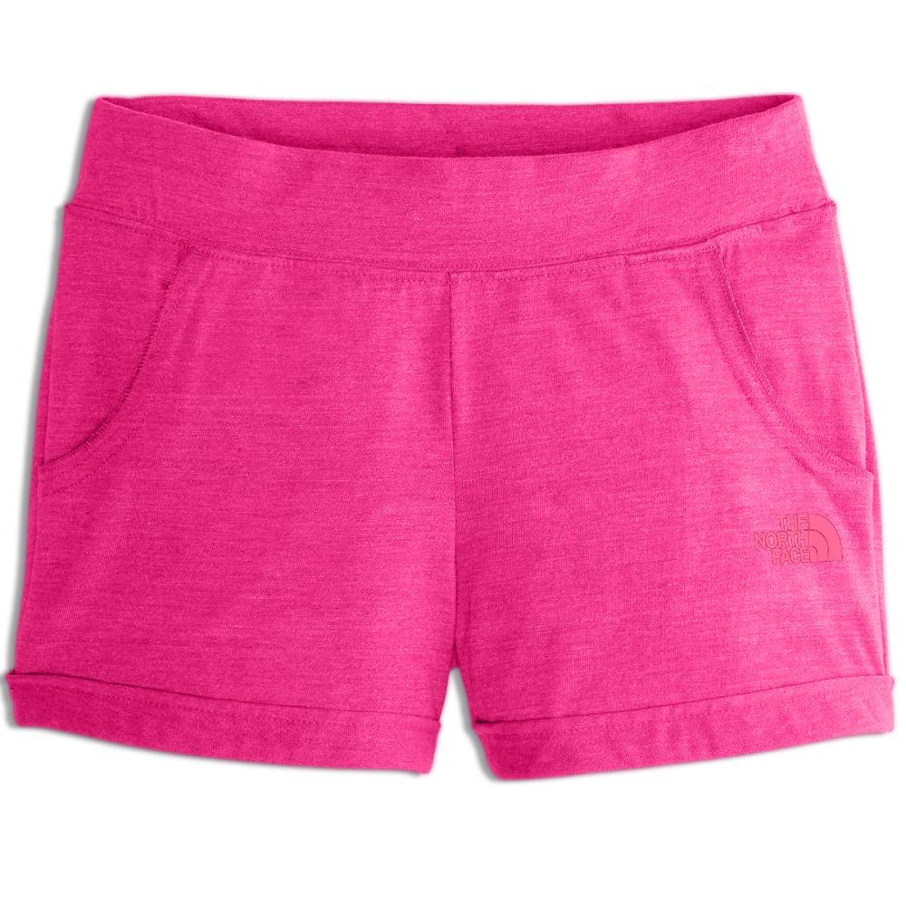 THE NORTH FACE Girls' Tri-Blend Shorts - BA0-PETTICOAT PNK HT