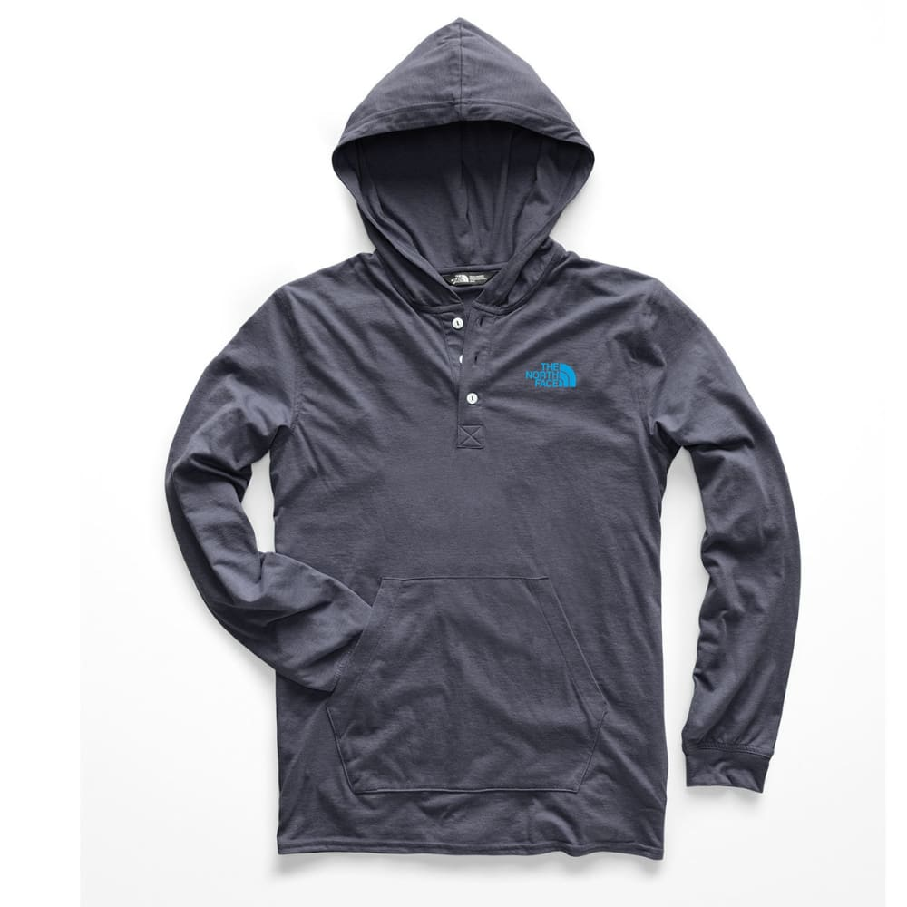 THE NORTH FACE Men's Henley Tri-Blend Pullover Hoodie - AVM- URB NVY HTHR