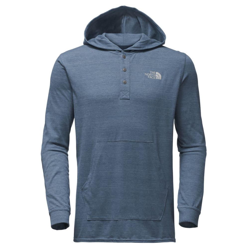 THE NORTH FACE Men's Henley Tri-Blend Pullover Hoodie - 2KZ-SHADY BLUE HTR/G