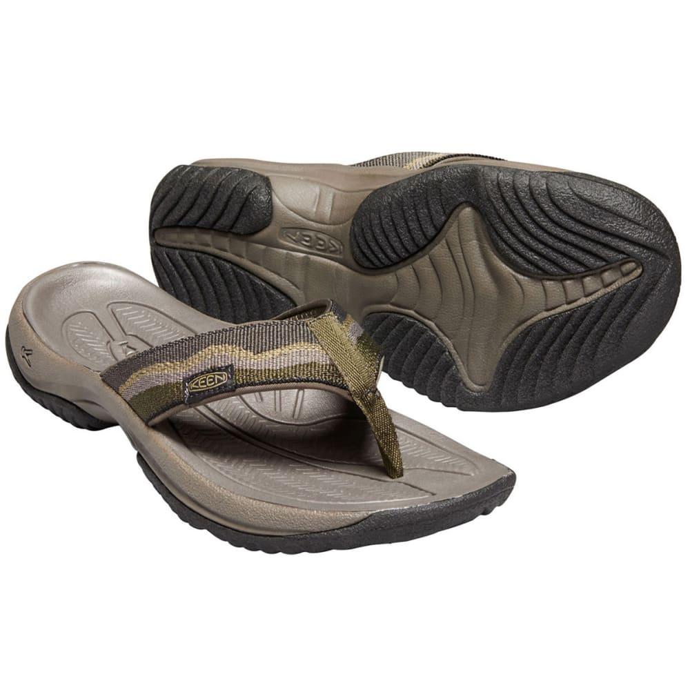 KEEN Men's Kona Flip II Sandals - DARK OLIVE
