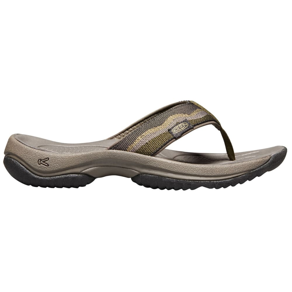 KEEN Men's Kona Flip II Sandals - DARK OLIVE