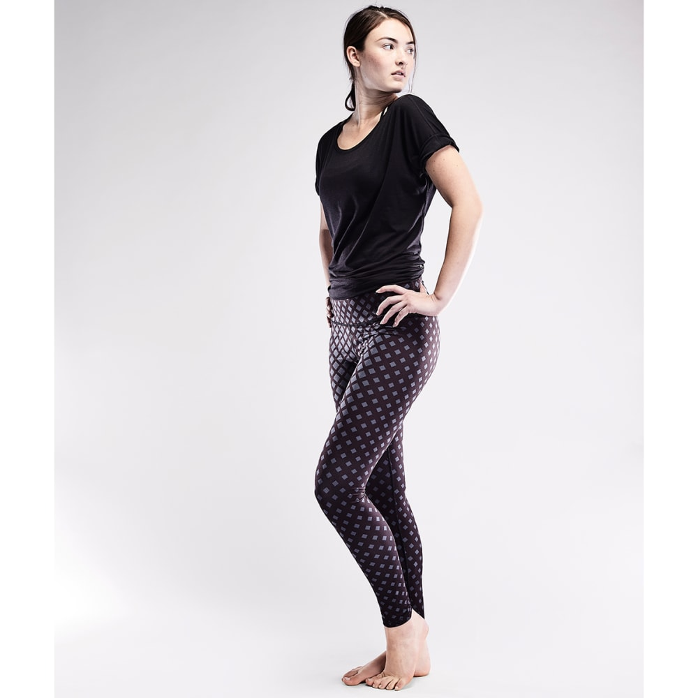 THE NORTH FACE Women's Contoured Tech High-Rise Tights - 5FM-ASPHALT GRY/BLK