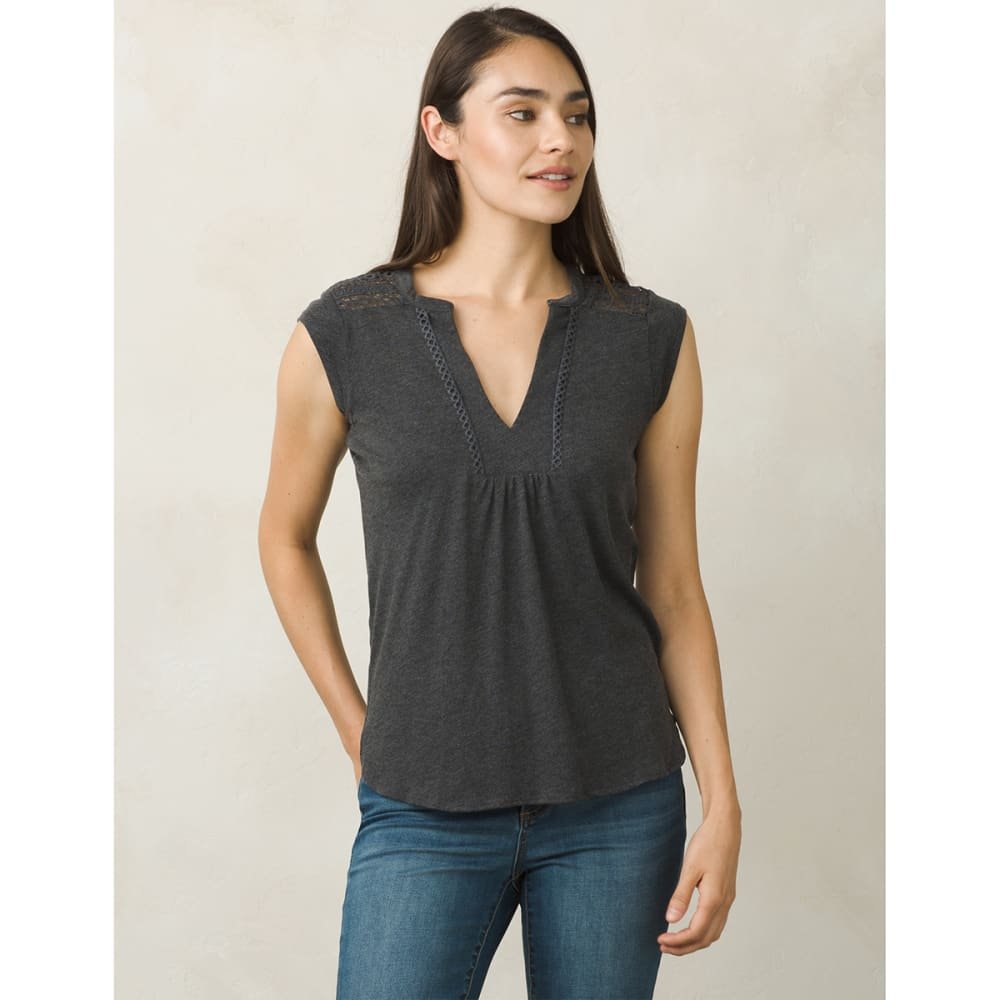 PRANA Women's Yvonna Short-Sleeve Tee - BLACK