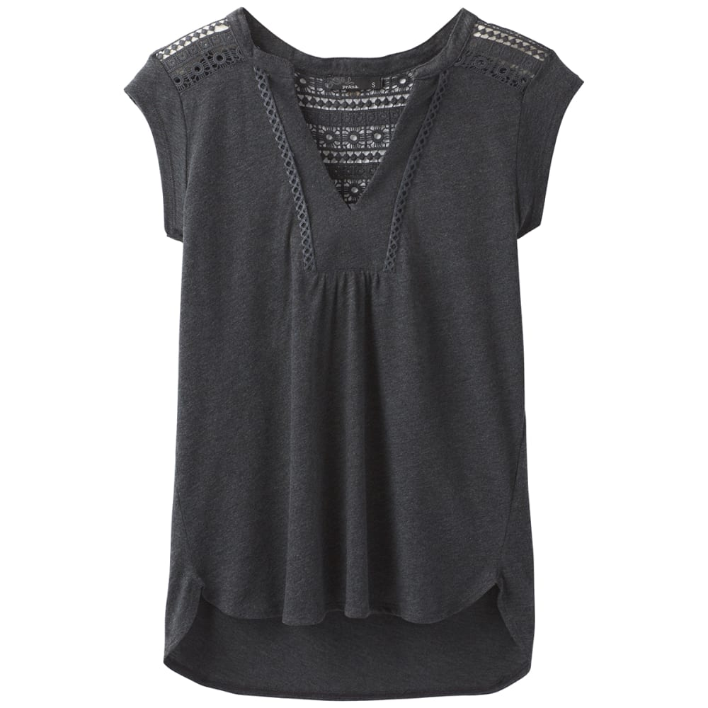 PRANA Women's Yvonna Short-Sleeve Tee - BLACK