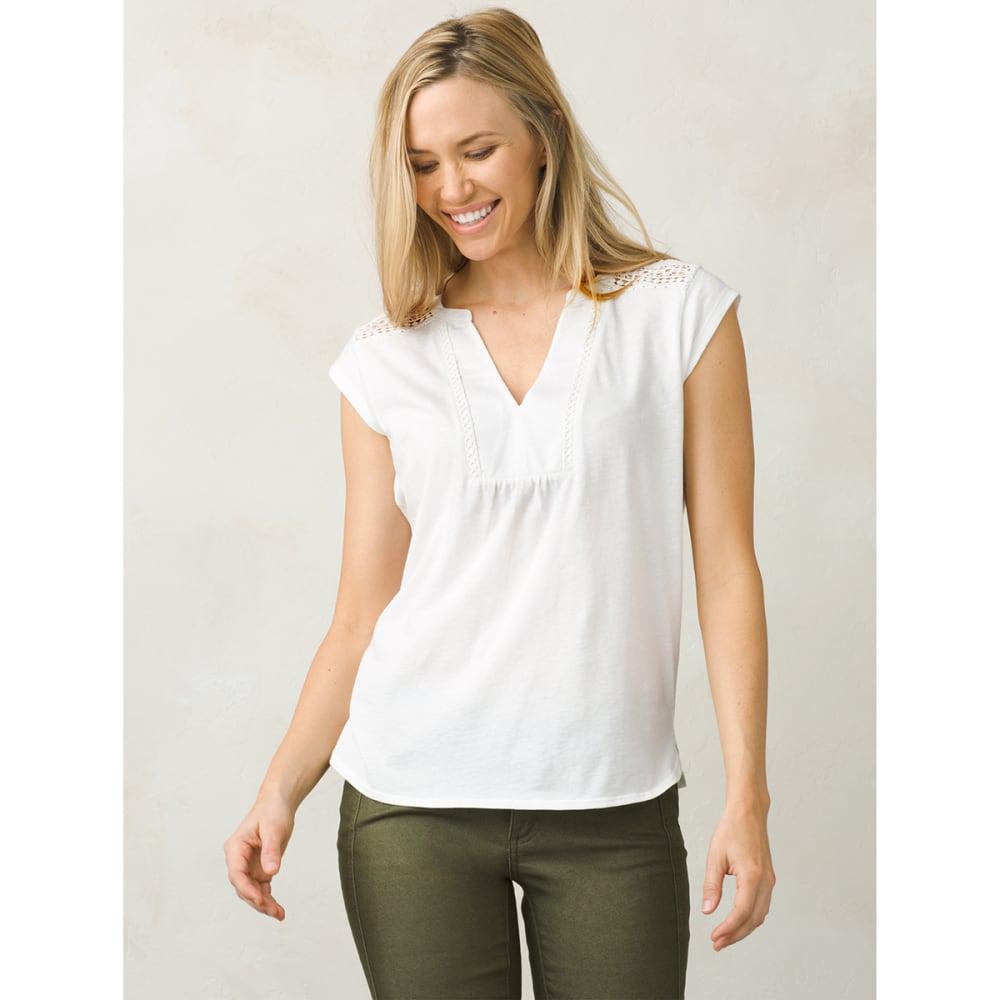 PRANA Women's Yvonna Short-Sleeve Tee - WHITE