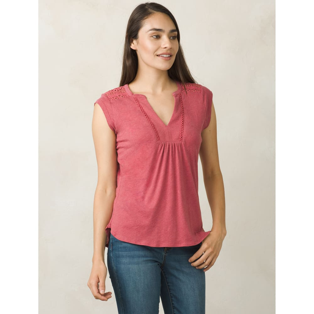 PRANA Women's Yvonna Short-Sleeve Tee - CRUSHED CRAN