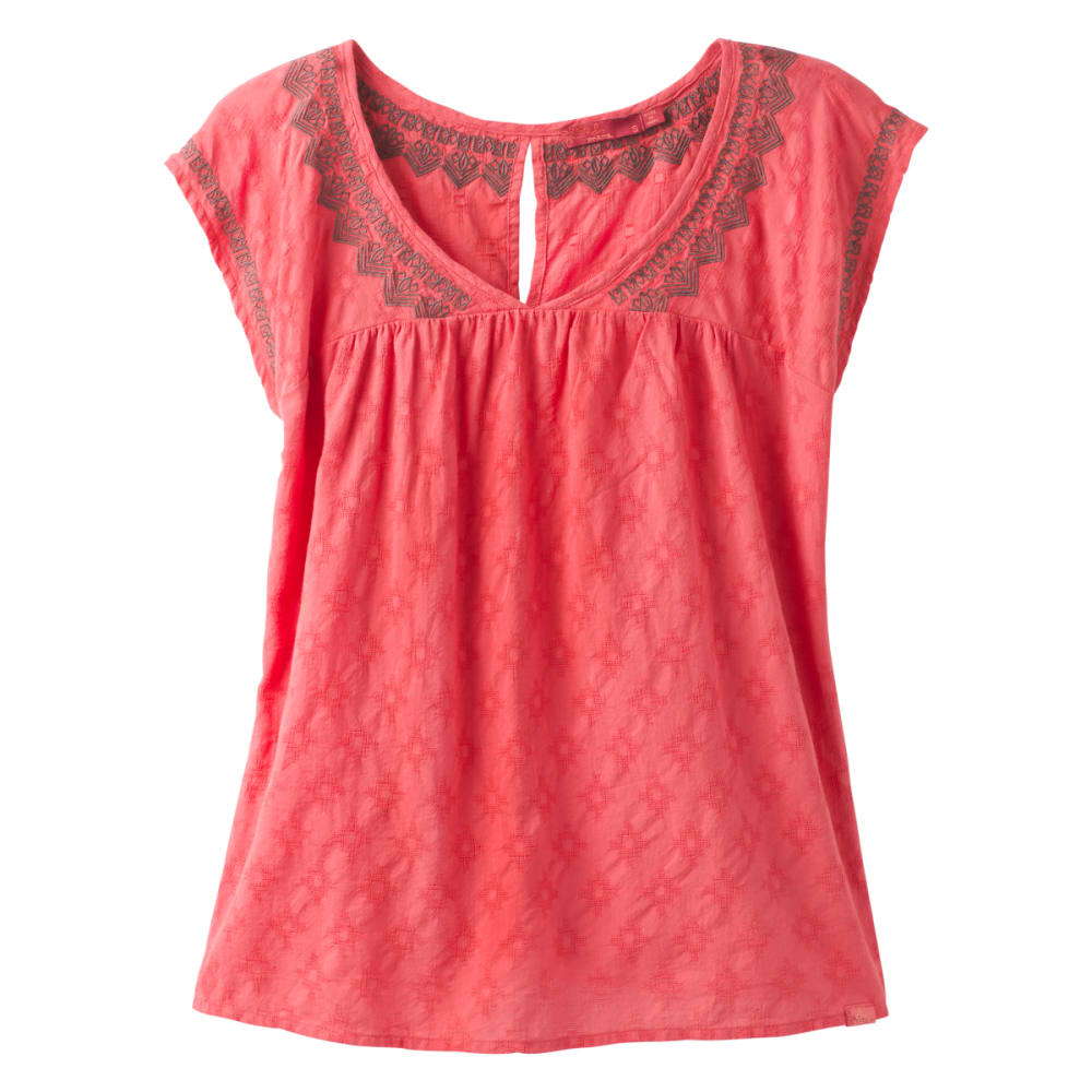 PRANA Women's Blossom Top - PEACH GERBERAS