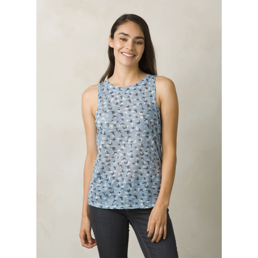 PRANA Women's Alannis Tank Top - BEAMING BLUE FLIGHT