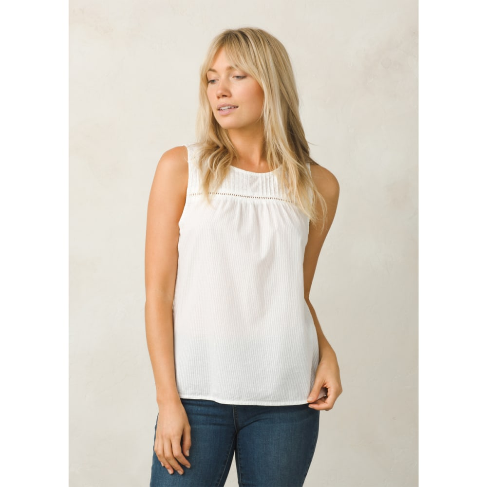 PRANA Women's Thomasina Tank Top - WHITE