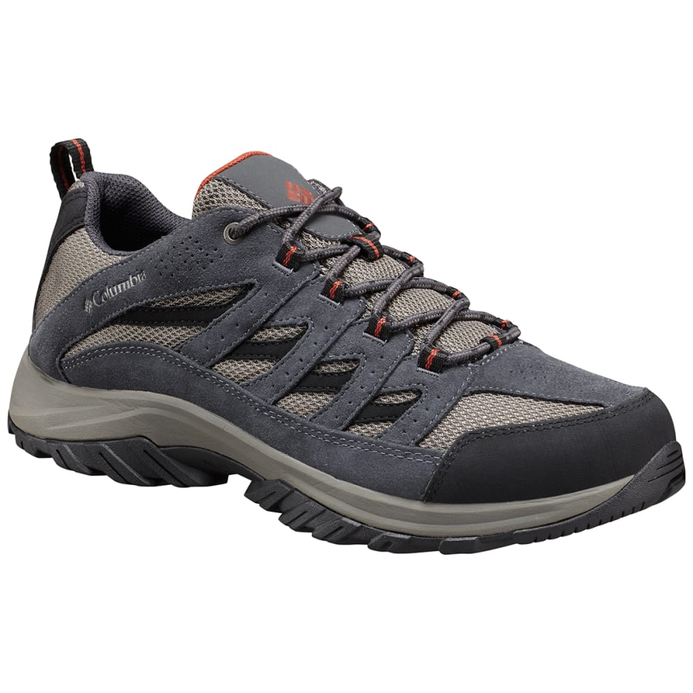 COLUMBIA Men's Crestwood Low Waterproof Hiking Shoes - QUARRY,RUSTY