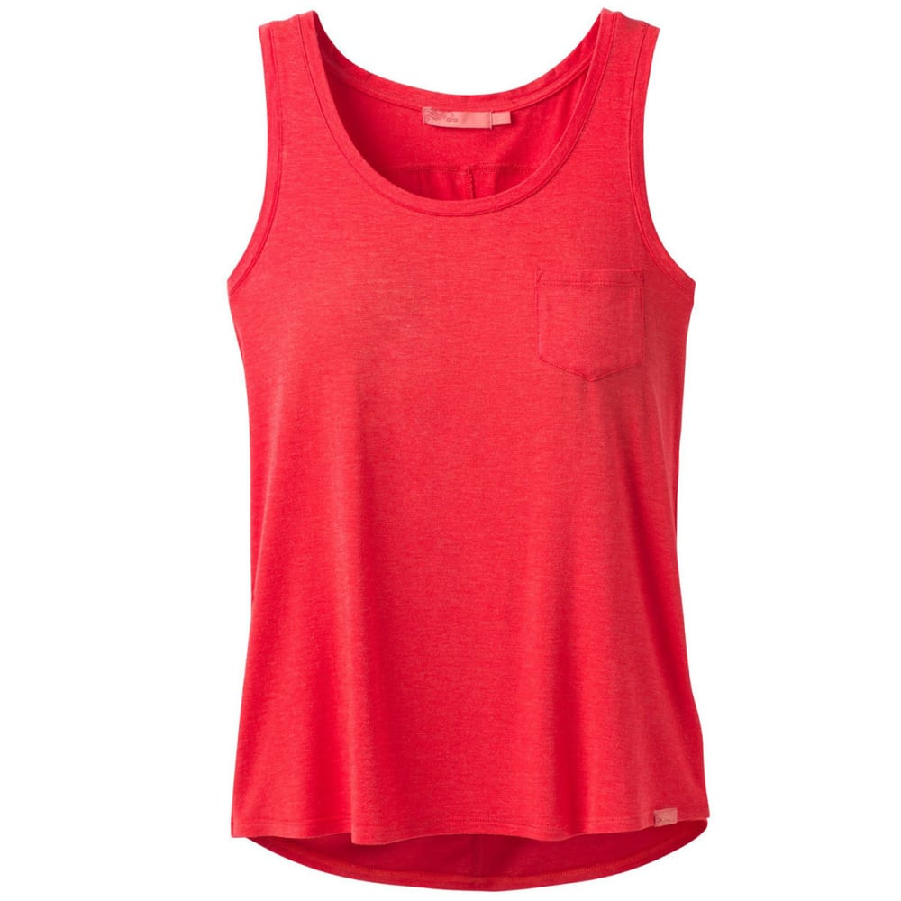 PRANA Women's Foundation Scoop-Neck Tank Top - CARMINE PINK HTR