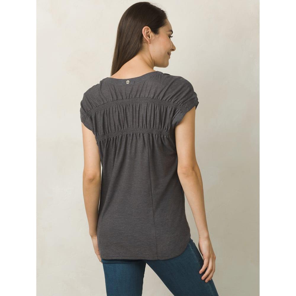 PRANA Women's Constellation Short-Sleeve Tee - CHARCOAL