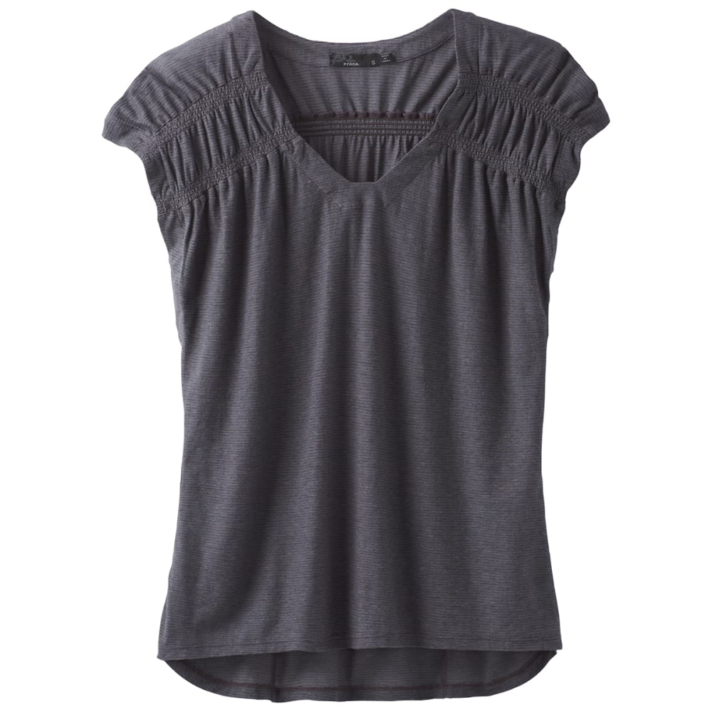PRANA Women's Constellation Short-Sleeve Tee - CHARCOAL
